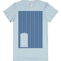 Bad Wolf Tardis-Female Light Blue T-Shirt