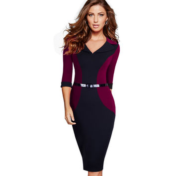 Professional Casual Work Business Office Dress
