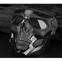 Tactical Paintball Skull Masks Assorted Colors Outdoor Breathable Hunting Shooting Skull Mask Military Full Face Safety Airsoft Paintball Masks FREE SHIPPING