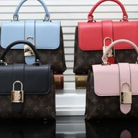 """Louis Vuitton""Personality Fashion Multicolor Quilted Zip Metal Chain Single Shoulder Messenger Bag Women Handbag"