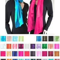 Solid Sheer Color Satin Scarf