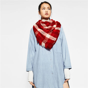 Winter Warm Double Color Scarf [9572827023]