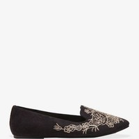 Faux Suede Floral Loafers | FOREVER 21 - 2043382050