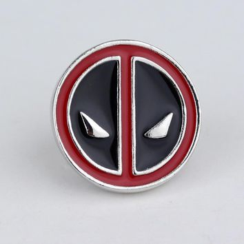 Hot Anime Cartoon Deadpool Pins and Brooches Newest Fashion Enamel Pin for Women and Men Metal Alloy Badge 2017