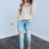 Look My Way Sweater: Oatmeal