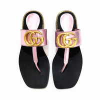 """GUCCI""Fashion Women Casual Comfortable Sandals Shoes Slippers purple"