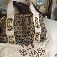 Michael Kors Canvas and Leather Bag