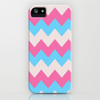 Cotton Candy Chevron iPhone & iPod Case by Valerie Hoffmann