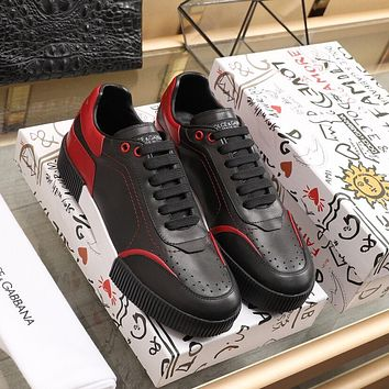 Dolce&Gabbana  Men Fashion Boots fashionable Casual leather Breathable Sneakers Running Shoes0331em