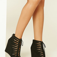 Strappy Lace-Up Wedges