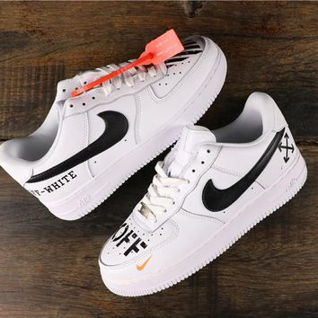 OFF White x Nike Air Force 1 AF1 Low Fashion Sneakers - Best Online Sale