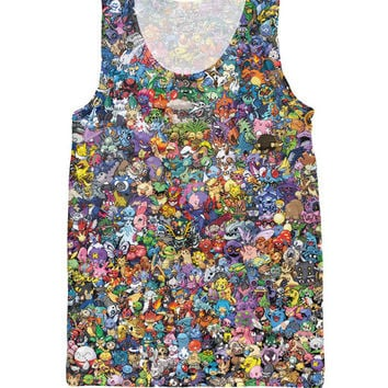 Pokemon Monster's Collage Tank Top