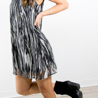 Sicilian Nights Abstract Print Party Dress