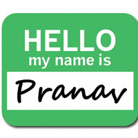 Pranav Hello My Name Is Mouse Pad