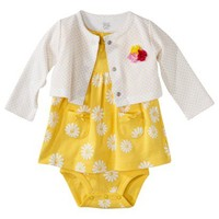 JUST ONE YOU® Made by Carters Newborn Girls' 2pc Dress Set - Yellow