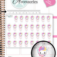 Kawaii Unicorn Stickers Party Stickers Cupcake Stickers Planner Stickers Kawaii Stickers Erin Condren Decorative Stickers NR1562