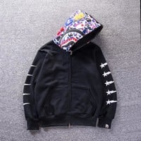 Casual Sports Winter Print Hoodies Couple Jacket [427382767652]