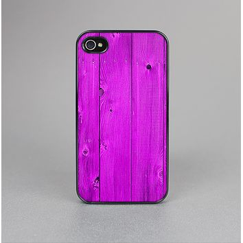 The Purple Highlighted Wooden Planks Skin-Sert Case for the Apple iPhone 4-4s