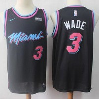 DCCK Miami Heat 3 Dwyane Wade City Edition Swingman Jersey
