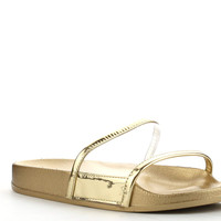 Claire Slides - Yellow Gold