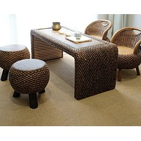 Rattan Crafted Fashionable Balcony Furniture Set