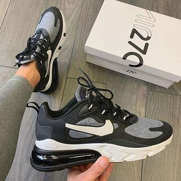 NIKE Air max 270 React men women's air cushion sneakers Shoes