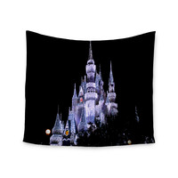 """Philip Brown """"Frozen Castle"""" Purple Photography Wall Tapestry"""