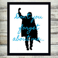 The BREAKFAST CLUB 8x10 Digital Typography - Song Quote Design Digital Art File Cool Gift - John Bender Silhouette - Download and Print -