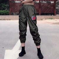 """""""Supreme x The North Face"""" 18SS Unisex Personality Casual Embroidery Couple Gore-Tex Leisure Pants Sweatpants Trousers"""
