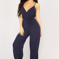 Avalon Jogger Jumpsuit - Navy
