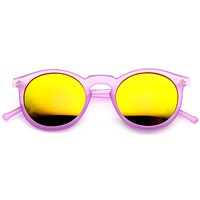 Retro P3 Round Flash Color Mirrored Lens Colorful Sunglasses 8932