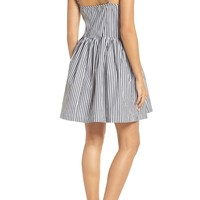 French Connection Sardinia Stripe Cotton Sundress | Nordstrom
