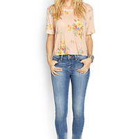 Floral Lace Paneled Top