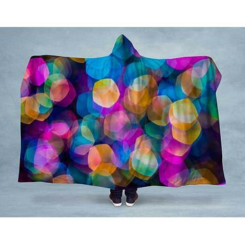 Rainbow Prism Hooded Blanket