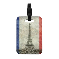 """Bruce Stanfield """" Vintage Paris"""" Mixed Media Travel Decorative Luggage Tag"""
