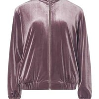 Purple Velvet Bomber Jacket - View All New In - New In