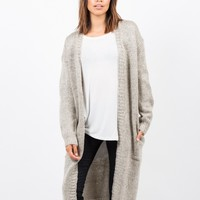 Chunky Long Knit Cardigan