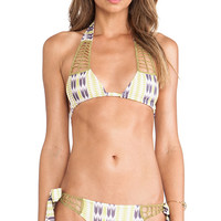 Acacia Swimwear Secrets Bikini Top in Green