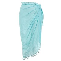 Sexy Beach Cover Ups tassel Wrap Skirt Bikinis Swimsuit Female Swimwear Women Solid Pareo Summer Beach Wear Chiffon Sarongs