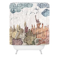Belle13 New York Skyline Shower Curtain