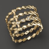 Dana Rebecca Designs 14K Yellow Gold 4 Tier Ring with Diamonds | Bloomingdales's