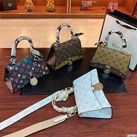 LV simple and versatile women's handbag shoulder messenger bag