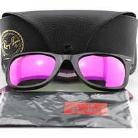 Cheap New Ray-Ban RB2140 1174/4T Black/Blue/Purple Mirror Wayfarer Sunglasses outlet