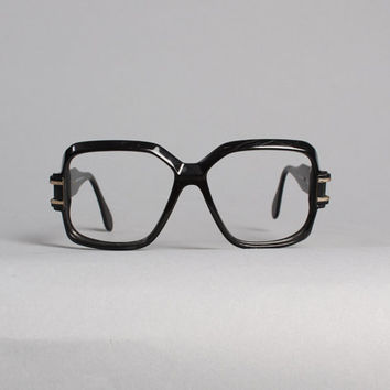 80s CAZAL Black GLASSES / Iconic Run DMC 623 Eyeglasses Frames