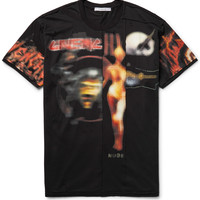 Givenchy - Columbian-Fit Distressed Printed Cotton-Jersey T-Shirt