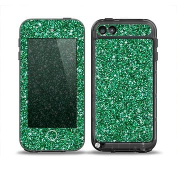The Green Glitter Print Skin for the iPod Touch 5th Generation frē LifeProof Case
