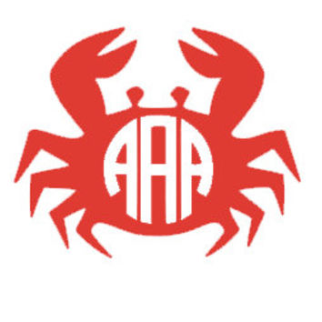 Crab Monogram Decal for Car, Notebook, Laptop, Water Bottle, Anything!