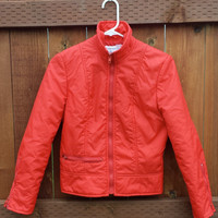 Awesome Red Women's Vintage Zip Up Jacket/ Size Small 5 / 6 by The International World of Sharpee's