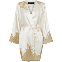 Marjolaine Gold Collection Short Silk Robe