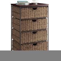 Michael Anthony Furniture Farmington 3 Drawer Check With Wood Top, Maize Weave